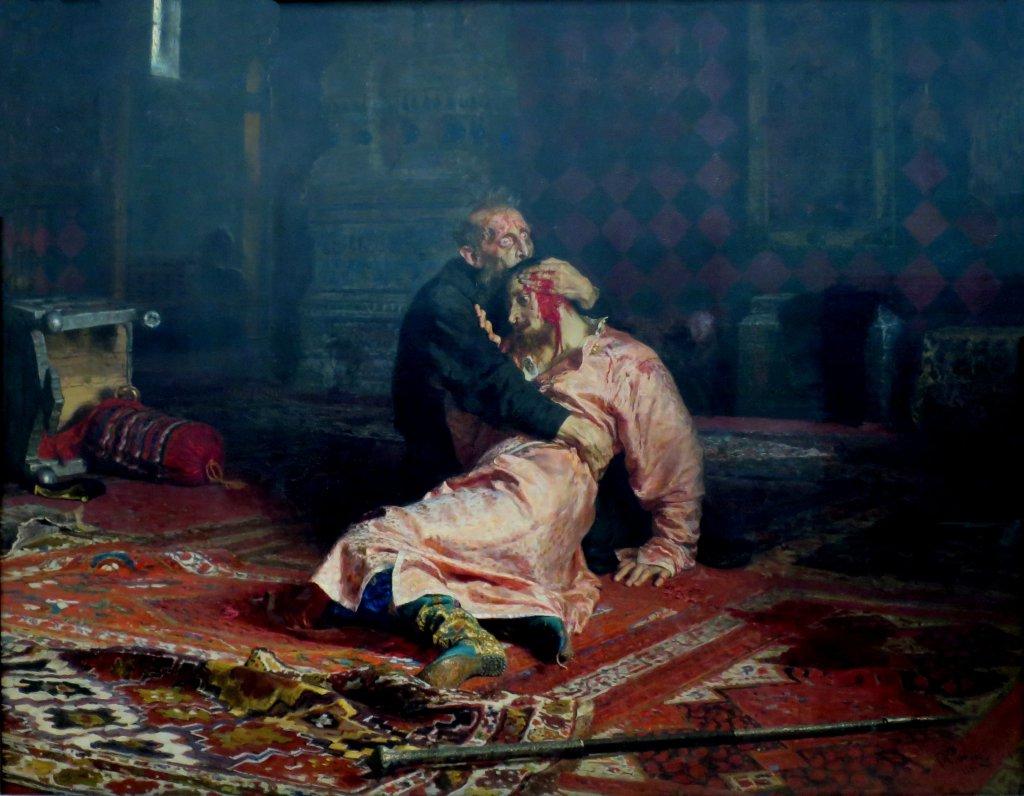 Иван Грозный и сын его Иван 16 ноября 1581 года; Е. Репин