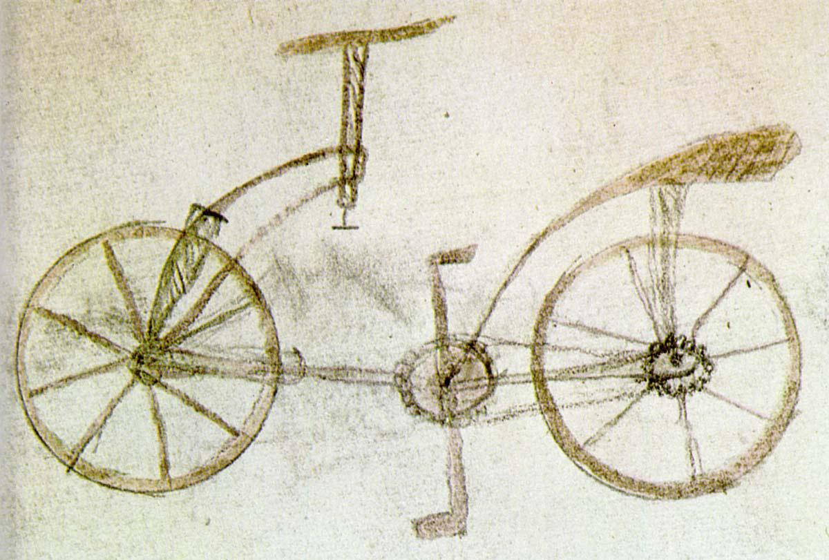 До сих пор среди историков не утихают споры: действительно ли этот чертеж сделал сам Леонардо да Винчи, опередив изобретение велосипеда почти на 4 столетия, или же данный рисунок - искусная подделка?