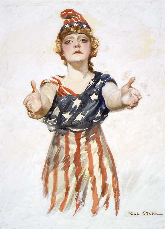 Женский образ Соединенных Штатов Америки - женщины по имени Колумбия