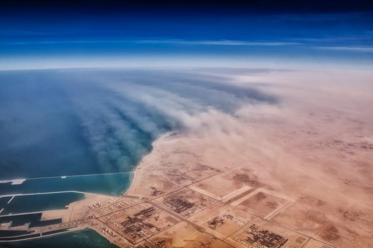 Песчаная буря над Катаром | http://www.jpcvanheijst.com/